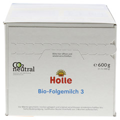 HOLLE Bio Säuglings Folgemilch 3 600 Gramm - Oberseite