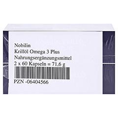 Nobilin Krillöl Omega-3 Plus Kapseln 2x60 Stück - Unterseite