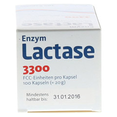 LACTASE 3.300 FCC 200 mg Kapseln 100 Stück - Unterseite