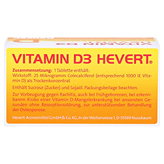 VITAMIN D3 Hevert Tabletten 100 Stück N3 - Oberseite