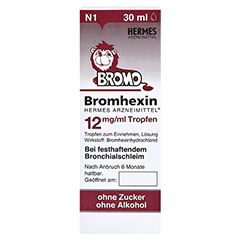 Bromhexin Hermes Arzneimittel 12mg/ml 30 Milliliter N1 - Vorderseite