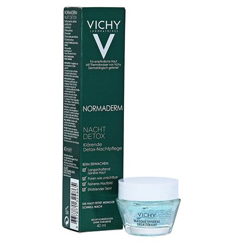 VICHY NORMADERM Detox Nacht + gratis Vichy Feuchtigkeitsmaske 40 Milliliter