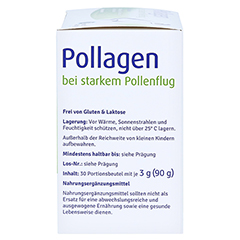 POLLAGEN Synbiotikum m.Probiotika u.Prebiot.Beutel 30 Stück - Rechte Seite