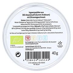 INGWER GINJER Pastillen Bio Zitrone 40 Gramm - Rückseite