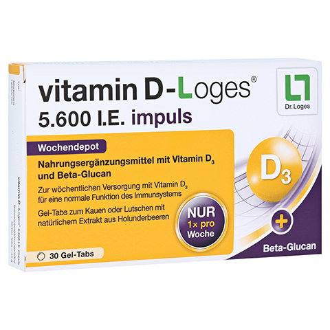 VITAMIN D-LOGES 5.600 I.E. impuls Kautabletten 30 Stück
