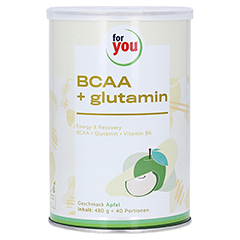 FOR YOU BCAA+glutamin Energy & Recovery Apfel Plv. 480 Gramm