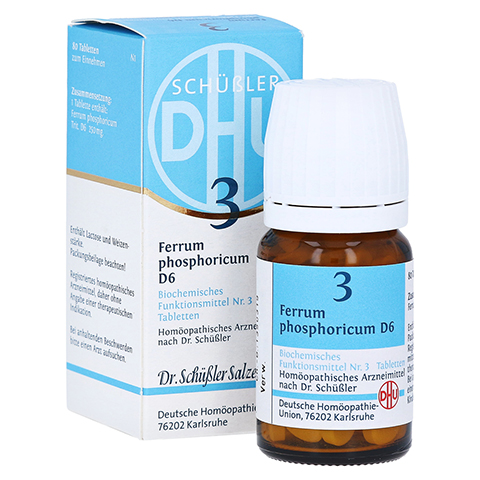 BIOCHEMIE DHU 3 Ferrum phosphoricum D 6 Tabletten 80 Stück N1
