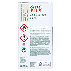 CARE PLUS Deet Anti Insect Lotion 50% 50 Milliliter - Rückseite