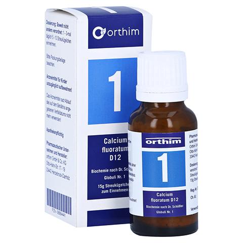 BIOCHEMIE Globuli 1 Calcium fluoratum D 12 15 Gramm N1