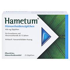 Hametum Hämorrhoidenzäpfchen + gratis Hametum Feuchtpflegetücher 25 Stück N2 - Vorderseite