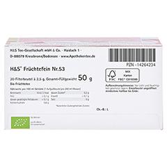 H&S Bio Baby- u.Kindertee Früchtefein Filterbeutel 20x2.5 Gramm - Unterseite