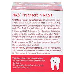 H&S Bio Baby- u.Kindertee Früchtefein Filterbeutel 20x2.5 Gramm - Linke Seite