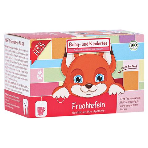 H&S Bio Baby- u.Kindertee Früchtefein Filterbeutel 20x2.5 Gramm