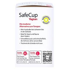 SAFECUP Vagisan Menstruationstasse Gr.M + gratis VagisanCare Creme-Gleitgel 10g 1 Stück - Rechte Seite