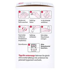 SAFECUP Vagisan Menstruationstasse Gr.M + gratis VagisanCare Creme-Gleitgel 10g 1 Stück - Linke Seite