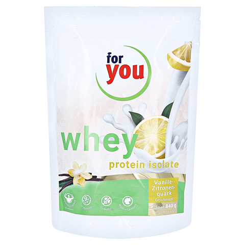 FOR YOU whey protein isolate recovery Vanille-Zit. 840 Gramm