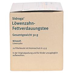 Sidroga Löwenzahn-Fettverdauungstee 20x1.5 Gramm - Rechte Seite