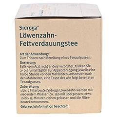 SIDROGA Löwenzahn-Fettverdauungstee 20x1.5 Gramm - Linke Seite