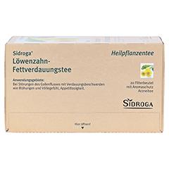 Sidroga Löwenzahn-Fettverdauungstee 20x1.5 Gramm - Oberseite