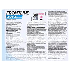 Frontline Spot On gegen Zecken und Flöhe bei Hunden 2 - 10 kg 3 Stück - Rückseite