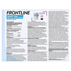 Frontline Spot On gegen Zecken und Flöhe bei Hunden 10 - 20 kg 3 Stück - Rückseite