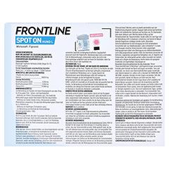 FRONTLINE Spot on H 40 Lösung f.Hunde 3 Stück - Rückseite