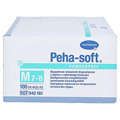 Peha-soft Latex Einmal-Untersuchnungshandschuhe unsteril Puderfrei 100 Stück - Rückseite