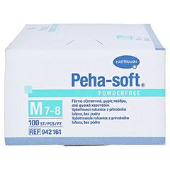 Peha-soft Latex Einmal-Untersuchnungshandschuhe unsteril Puderfrei 100 Stück - Oberseite