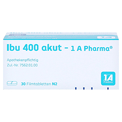 Ibu 400 akut-1A Pharma 30 Stück N2 - Oberseite