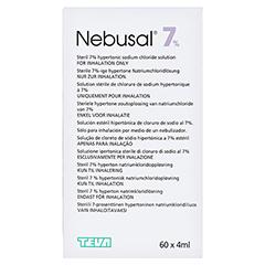 NEBUSAL 7% Inhalationslösung 60x4 Milliliter - Rückseite