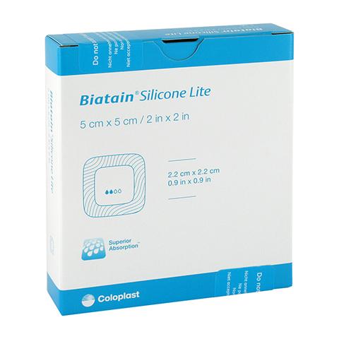 BIATAIN Silicone Lite Schaumverband 5x5 cm 5 Stück