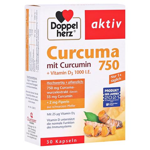 DOPPELHERZ Curcuma 750 Kapseln 30 Stück