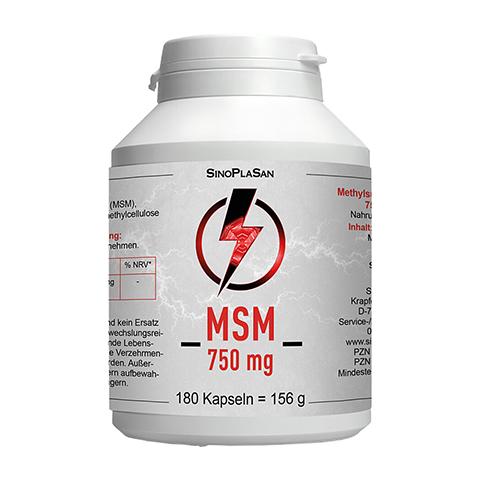 MSM 750 mg Mono 99,9% Kapseln 180 Stück