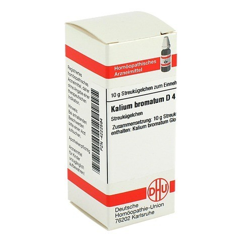 KALIUM BROMATUM D 4 Globuli 10 Gramm N1