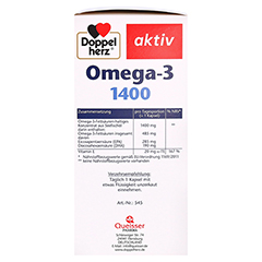 DOPPELHERZ Omega-3 1.400 Kapseln 120 St�ck - Linke Seite