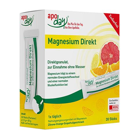 APODAY Magnesium Direkt Sticks 20x1.5 Gramm