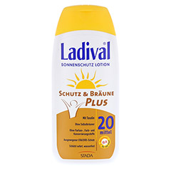 LADIVAL Schutz&Bräune Plus Lotion LSF 20 200 Milliliter