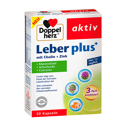 DOPPELHERZ Leber plus mit Cholin+Zink Kapseln 30 Stück
