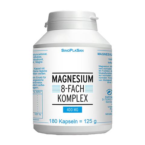 MAGNESIUM 8fach Komplex 400 mg Kapseln 180 Stück