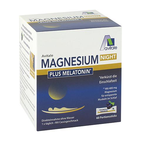 MAGNESIUM NIGHT plus 1 mg Melatonin Direktsticks 60 Stück