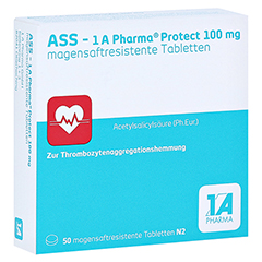 ASS-1A Pharma Protect 100mg 50 Stück N2