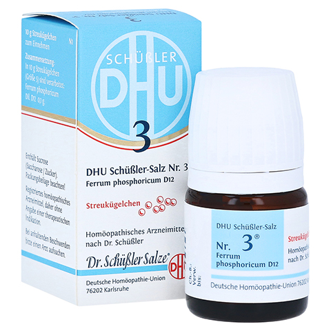 BIOCHEMIE DHU 3 Ferrum phosphoricum D 12 Globuli 10 Gramm N1