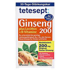 TETESEPT Ginseng 200+Lecithin+B-Vitamine Filmtabl. 30 Stück - Vorderseite
