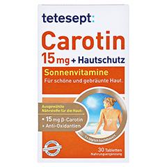 Tetesept Carotin 15 mg + Hautschutz 30 Stück - Vorderseite