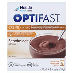 OPTIFAST Creme Schokolade Pulver 8x55 Gramm - Vorderseite