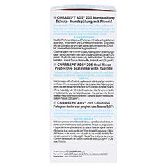CURASEPT 0,05% Chlorhexidin ADS 205 Mundspülung 200 Milliliter - Linke Seite
