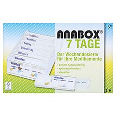 ANABOX 7 Tage Wochendosierer weiß 1 Stück - Vorderseite