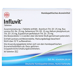 INFLUVIT Tabletten 80 Stück N1 - Rückseite