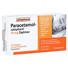 Paracetamol-ratiopharm 75mg 10 Stück N1