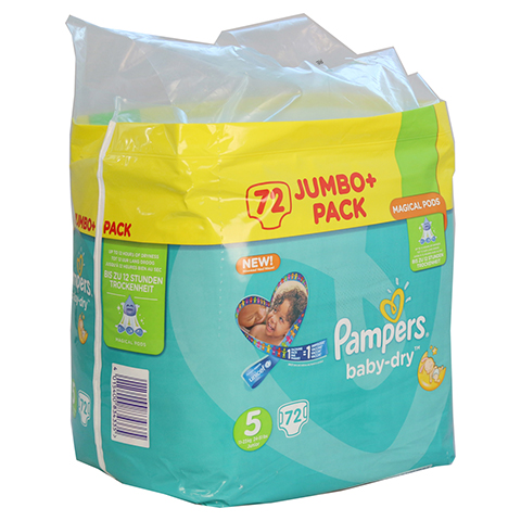 PAMPERS Baby Dry Gr.5 junior 11-23kg Jumbo plus P. 72 Stück